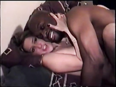 Blonde white hotwife gets gangbanged by blacks