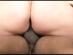 Two scenes of interracial BBW hardcore