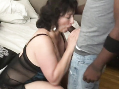 Thick Mature BBW Mom Serves 2 BBC's
