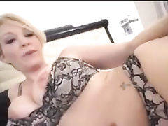 Stunning Shorthaired Blonde Milf Wife BBC Interracial facial