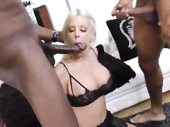 BBC threesome for a blonde white wife