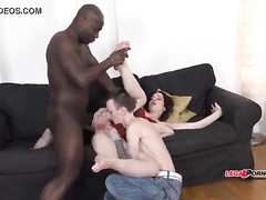 Interracial cuckold bbc brunette wife and hubby