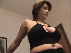 Sexy italian mom in lingerie cuckold gangbang