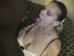 Amateur video of black guy fucking girl and cumming in cunt