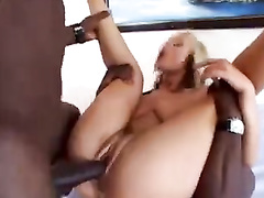 Pussy wants BBC and two black lovers cum on face of blonde wife