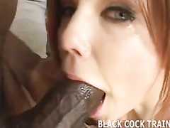 Enjoyable redhead able to serve several erect BBCs simultaneously