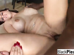 Curvy young girl takes a creampie from a BBC