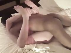 Israeli wife crying in pleasure during interracial sex