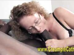 Teenage BBC addict fucked alongside a horny MILF