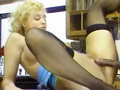 Blonde busty retro vintage milf hard doggystyle