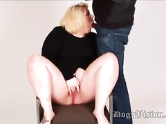 White tattooed BBW gets interracial doggystyle w creampie