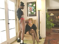 Retro rich blonde wife gets fucked by bbc thug