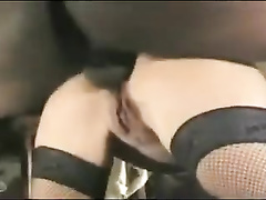 Brunette french wife interracial gangbang