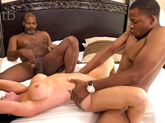 Hardcore BBC threesome with DP