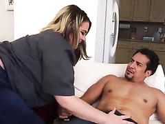 Big assed blonde bitch gets BBC while hubby's away