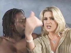 Blond whitey sexwife in underwear gets big black cock ir anal